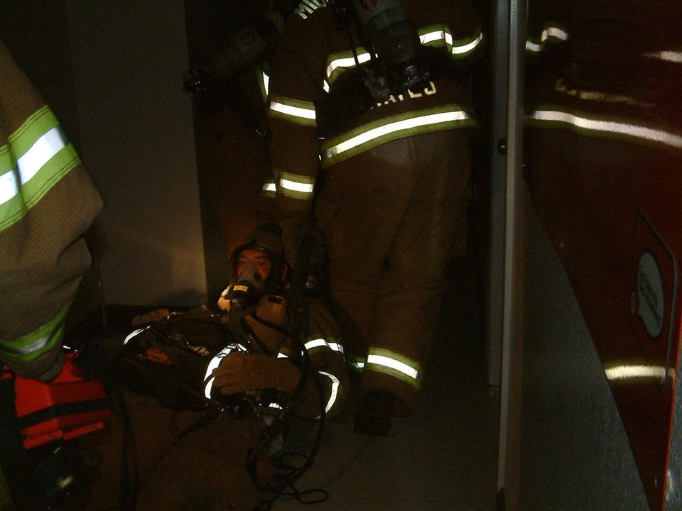 Firefighters practice rescue skills in near-total darkness<br/><b>Community Photo By:</b> David Richardson<br/><b>Submitted By:</b> Jerry,