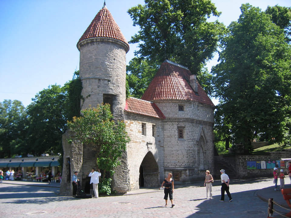 Photo - Viru Gate marks the boundary between medieval and modern in Tallinn, Estonia. BY CHARLIE PRICE, FOR THE OKLAHOMAN ORG XMIT: 0710251805080221
