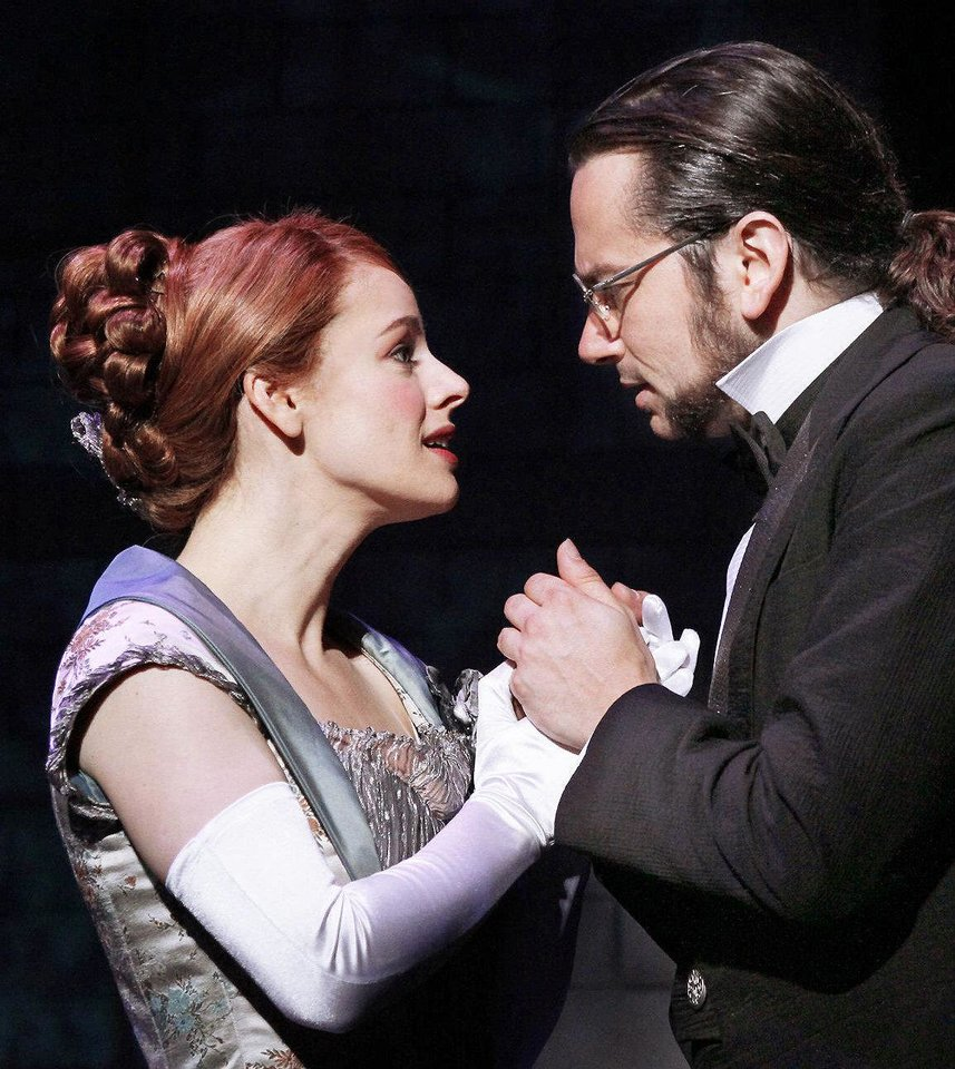 "Photo - Teal Wicks and Constantine Maroulis star as Emma Carew and Henry Jekyll in the national touring production of ""Jekyll & Hyde."""