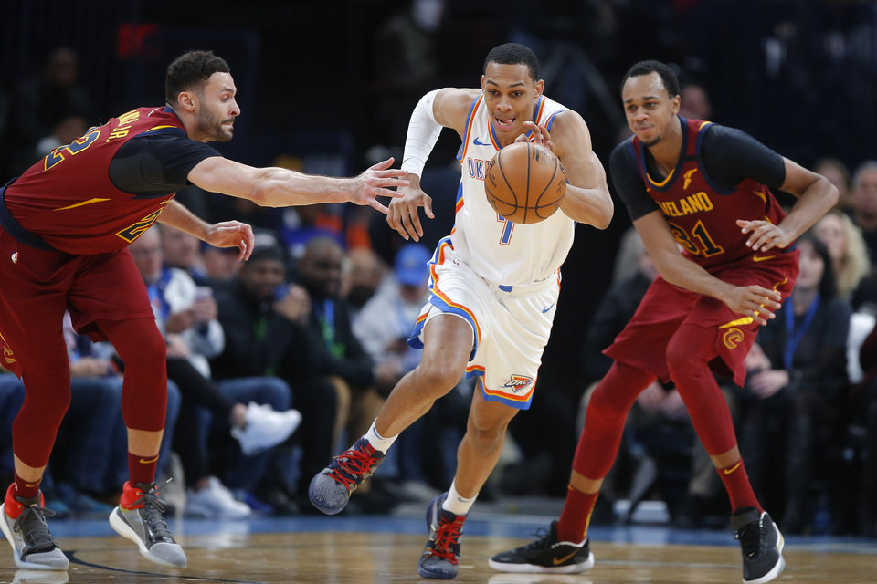 Photo - Forward Darius Bazley is one of seven players who will not play Saturday night in the Thunder's first preseason game. [Bryan Terry/The Oklahoman]