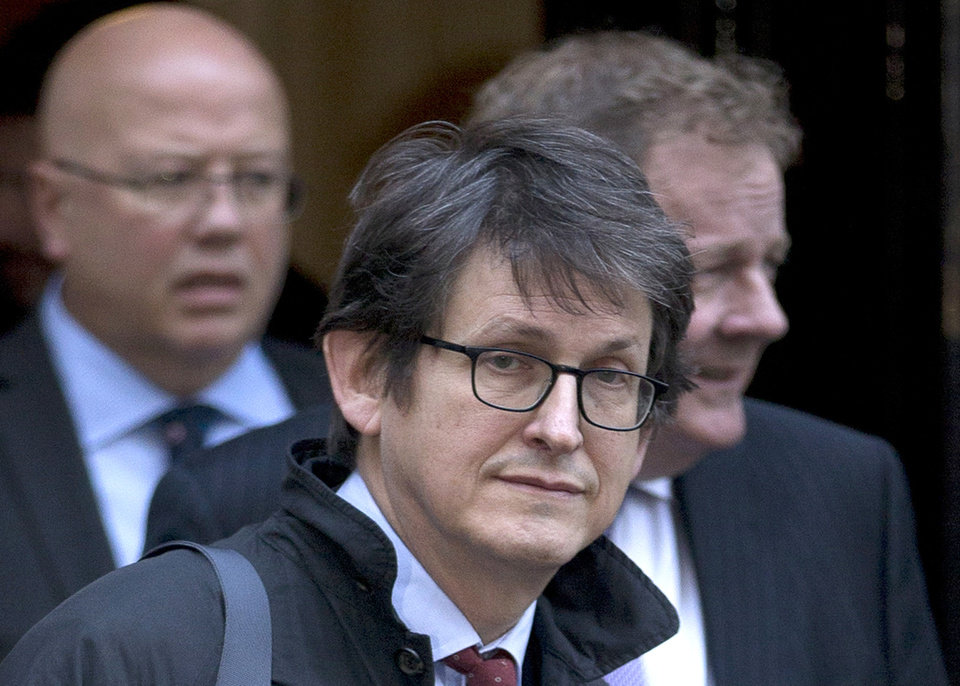 Photo - FILE - This Dec. 4, 2012 file photo shows Guardian newspaper editor Alan Rusbridger in London. The Obama administration knew in advance that the British government would oversee destruction of a newspaper's hard drives containing leaked National Security Agency documents last year, newly declassified documents show. The White House had publicly distanced itself from doing the same against an American news organization. (AP Photo/Alastair Grant, File)