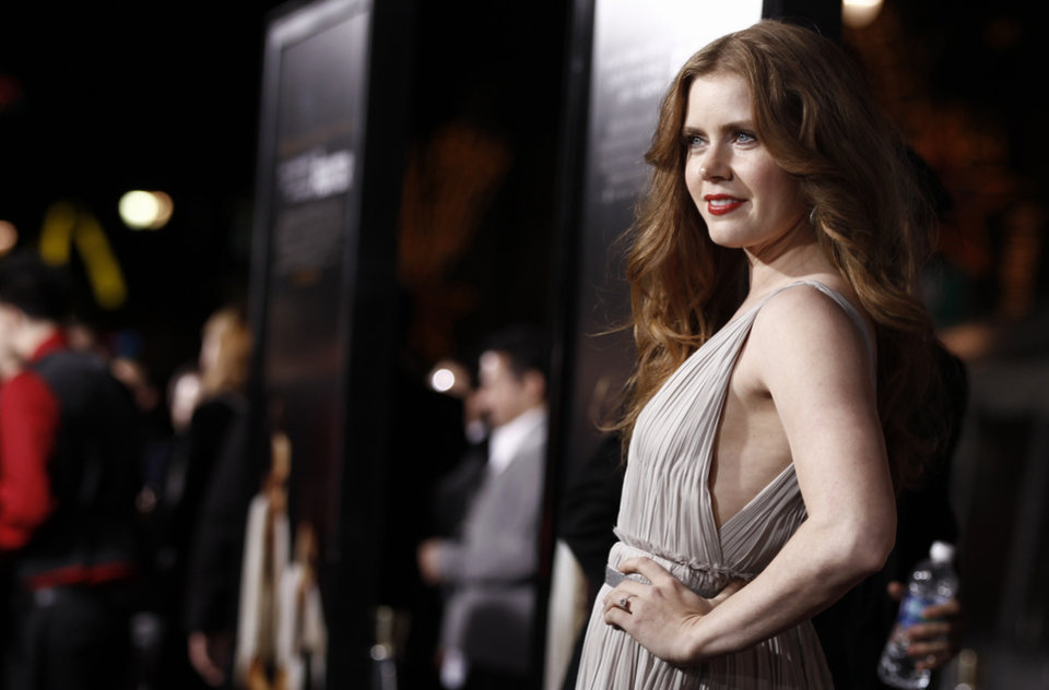 """Photo -  Cast member Amy Adams arrives at the premiere of """"The Fighter"""" in Los Angeles on Monday, Dec. 6, 2010.  (AP Photo/Matt Sayles) ORG XMIT: CAMW118"""