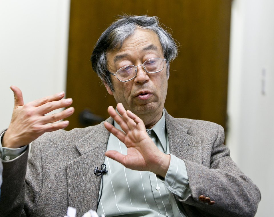 Photo - Dorian S. Nakamoto talks during an interview with the Associated Press, Thursday, March 6, 2014 in Los Angeles. Nakamoto, the man that Newsweek claims is the founder of Bitcoin, denies he had anything to do with it and says he had never even heard of the digital currency until his son told him he had been contacted by a reporter three weeks ago. (AP Photo/Damian Dovarganes)