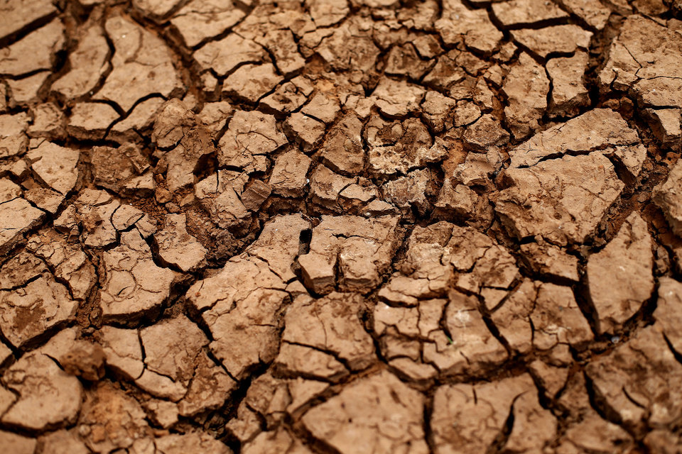 Photo - DROUGHT: A dry pond is pictured in El Reno, Okla., Thursday, Aug. 16, 2012. Photo by Sarah Phipps, The Oklahoman