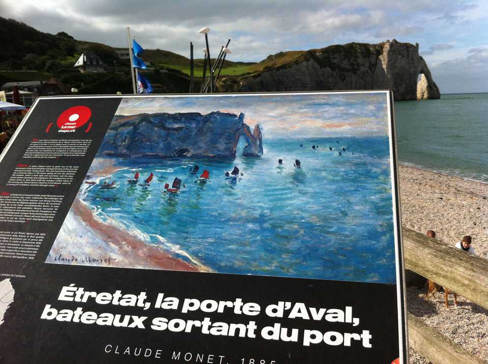 Photo -  Visitors to the Normandy coast in France are able to see the same views that inspired Impressionist painters. Photo courtesy of Patricia Woeber.