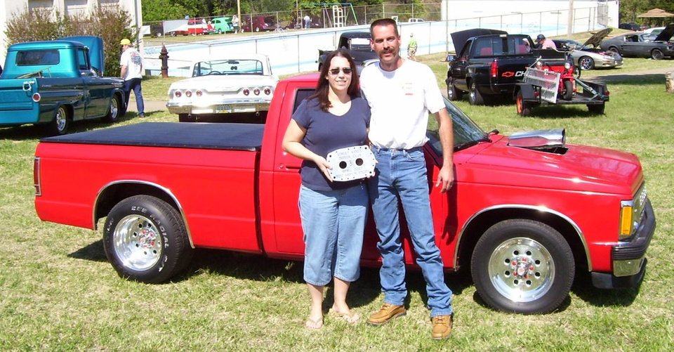 Shelby and Amy Sawyers of Enid with their award winning S-10  at the www.streetkingsokla.com 31st anniversary celebration at Highland park in Guthrie 4/21/07.<br/><b>Community Photo By:</b> Martin Blaney<br/><b>Submitted By:</b> jimmy, guthrie