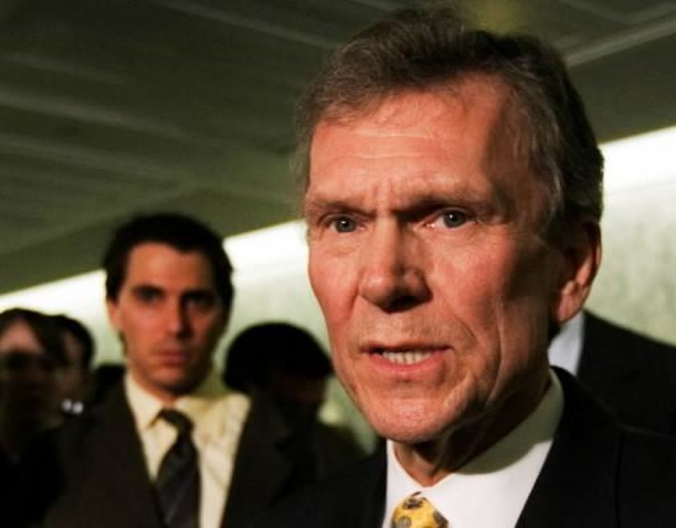 Photo - In this Feb. 2, 2009 file photo, former Senate Majority Leader Tom Daschle speaks on Capitol Hill in Washington. Daschle has withdrawn his nomination to be secretary of Health and Human Services. AP Photo