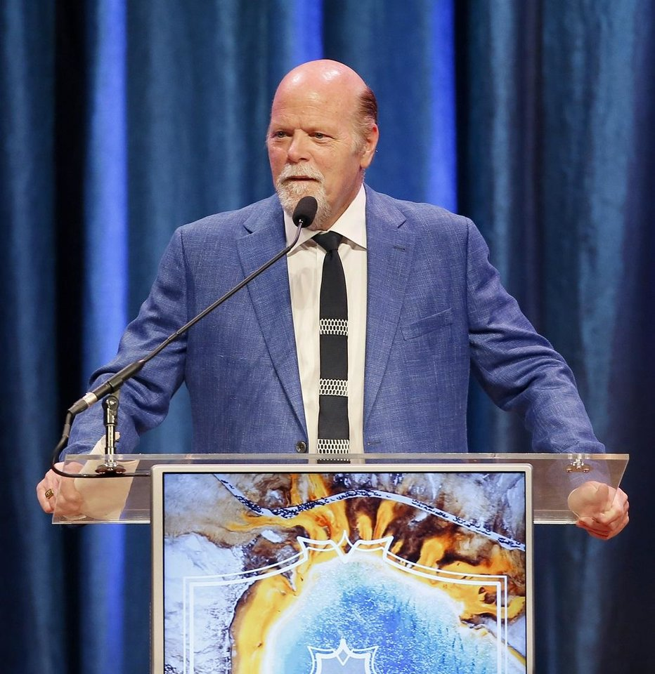 Photo - Rex Linn speaks during the National Cowboy & Western Heritage Museum's Western Heritage Awards in Oklahoma City, Saturday, April 13, 2019. [Bryan Terry/The Oklahoman Archives]
