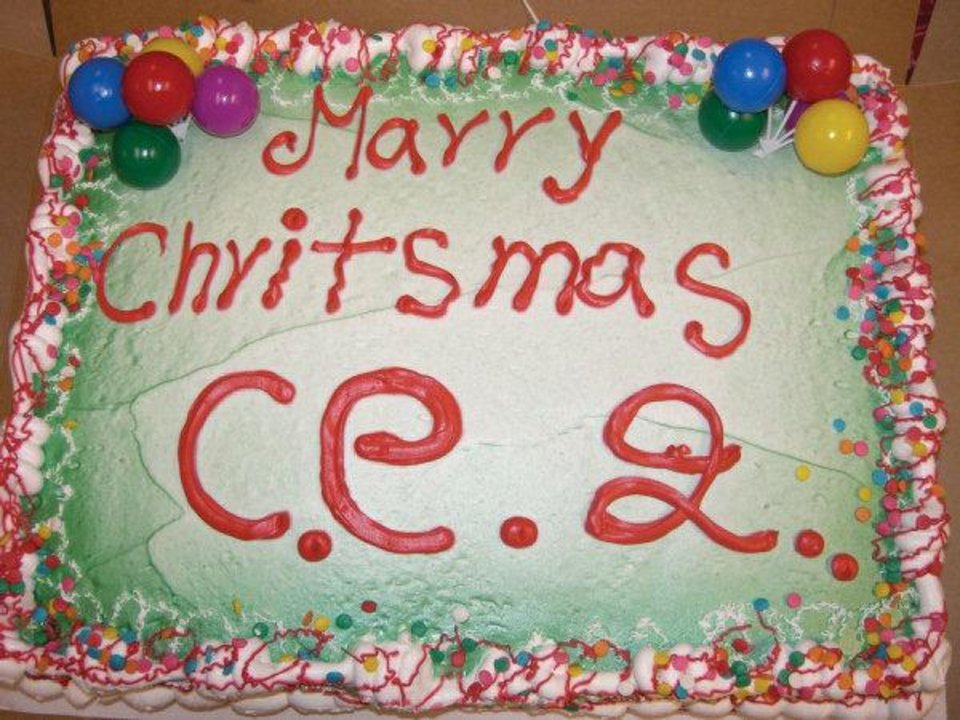 "The ""Marry Christmas"" cake wreck from the latest book by Jen Yates, ""Wreck the Halls: Cake Wrecks Gets Festive."" PHOTO PROVIDED. <strong></strong>"