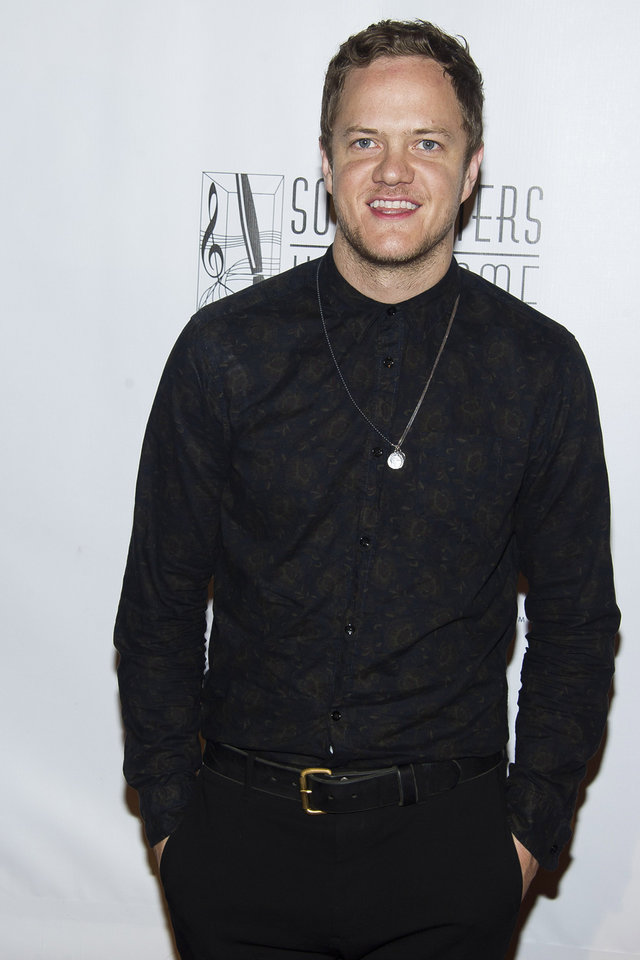 Photo - Dan Reynolds from Imagine Dragons attends the Songwriters Hall of Fame Awards on Thursday, June 12, 2014 in New York. (Photo by Charles Sykes/Invision/AP)