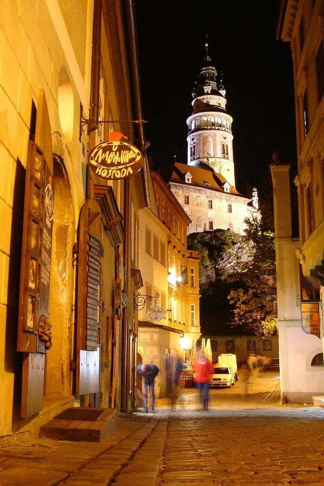 Photo - Evenings in Cesky Krumlov are for dining, drinking and enjoying life.  Photo by Cameron Hewitt