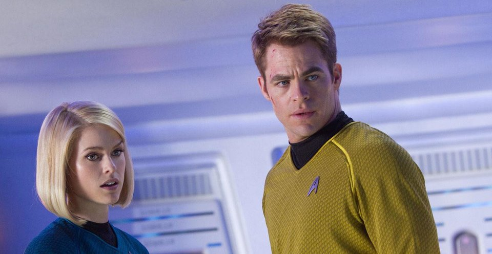 "Alice Eve plays Dr. Carol Marcus and Chris Pine reprises his role as Capt. James T. Kirk in the sequel ""Star Trek into Darkness."" Paramount Pictures photo <strong></strong>"