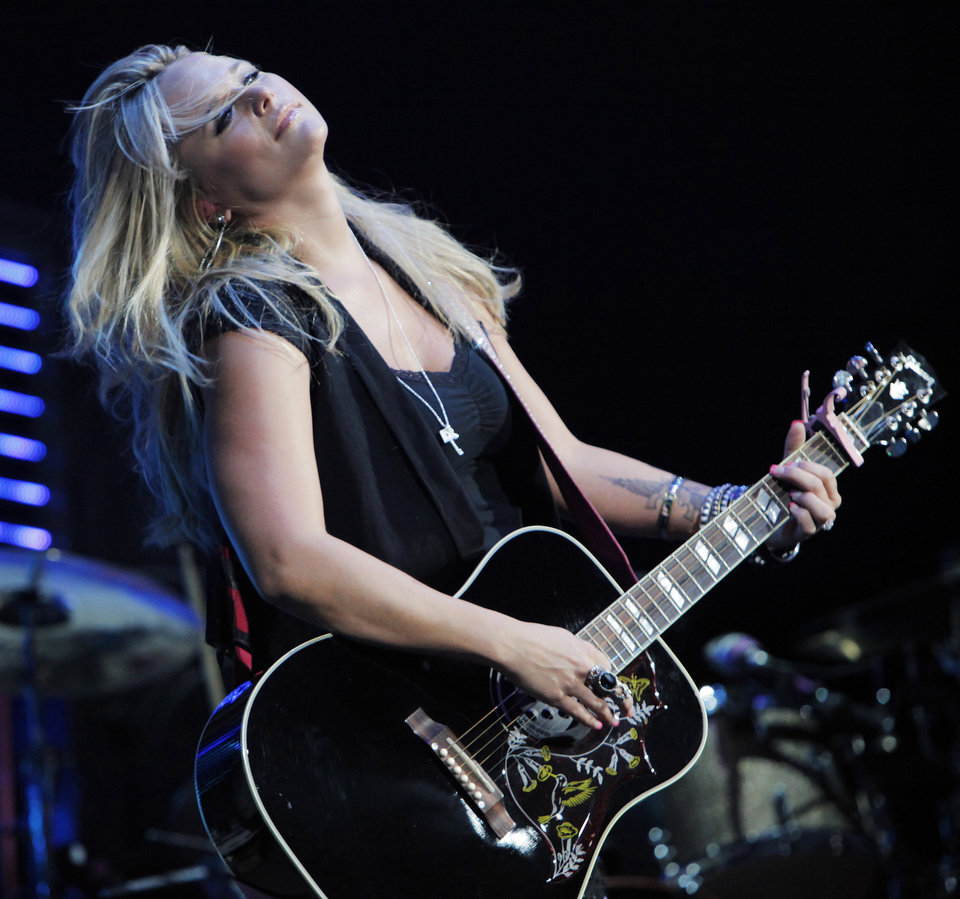 "Miranda Lambert performs as an opening act on the Brooks & Dunn ""Last Rodeo"" tour, at the Ford Center in Oklahoma City, Friday, August 20, 2010. Photo by Nate Billings, The Oklahoman"