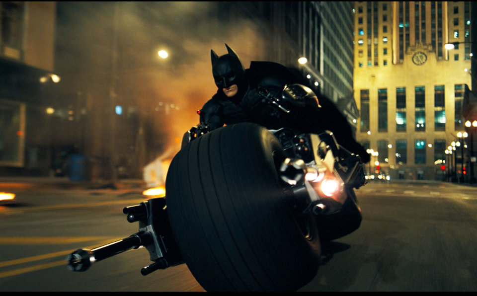 "Photo -  FILE - In this undated file image released by Warner Bros., Christian Bale is shown as Batman in a scene from ""The Dark Knight.""  Film director Christopher Nolan, who has helmed the two previous Batman films said Tuesday, April 5, 2011, that  the next Batman film, ""The Dark Knight Rises,"" will be filmed in Pittsburgh, Pa., in July. (AP Photo/Warner Bros.) ORG XMIT: NYET651"