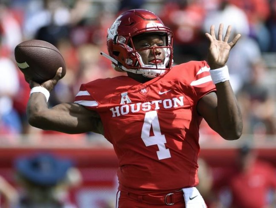 Photo -  Houston quarterback D'Eriq King had 26 touchdown passes last season with just six interceptions. [AP Photo/Eric Christian Smith]