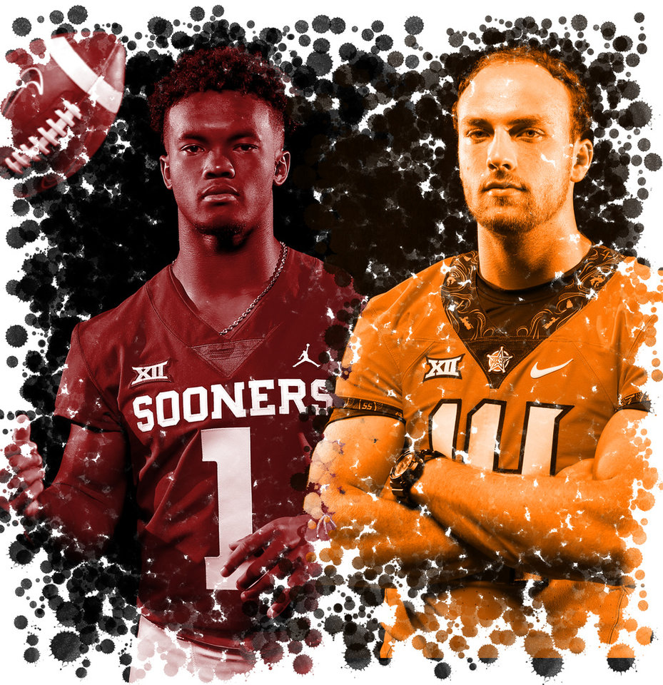 Photo -  Oklahoma's Kyler Murray, left, and Oklahoma State's Taylor Cornelius took vastly different paths to becoming starting quarterback in Bedlam. [OKLAHOMAN PHOTO ILLUSTRATION]