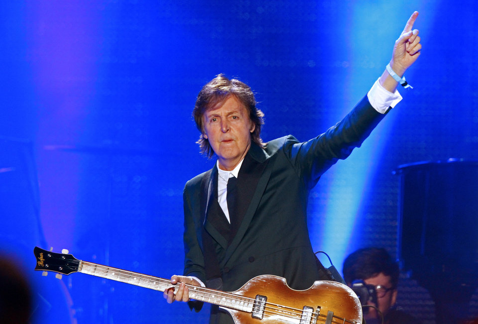 Paul McCartney performs on Day 2 of the 2013 Bonnaroo Music and Arts Festival on Friday, June 14, 2013 in Manchester, Tenn. (Photo by Wade Payne/Invision/AP)