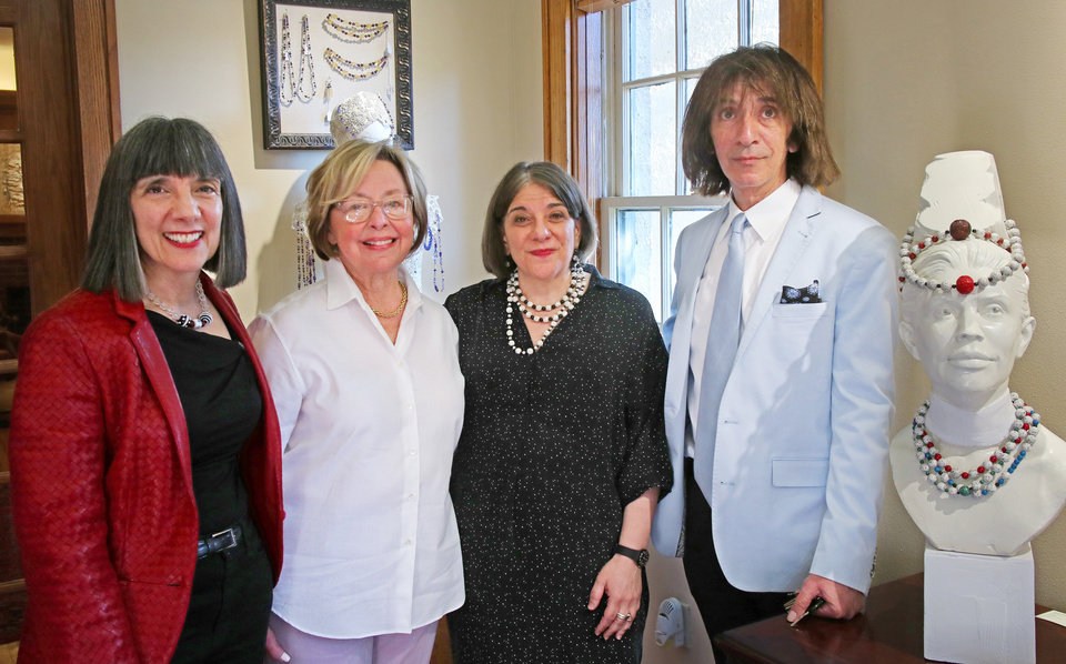 Photo - Bette Talvacchia, Fanny Bolen, Jaye Talvacchia, Sohail Shehada. PHOTO BY DOUG HOKE, THE OKLAHOMAN