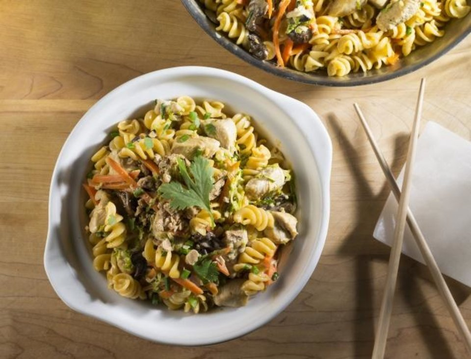 Photo -  Asian Peanut Noodles from The Made in Oklahoma Coalition use locally made pasta and other local products for Chinese take-out you don't have to order from a restaurant. [Photo provided]