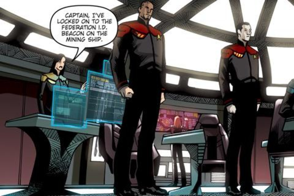 "Photo - COMIC BOOK: Each issue of ""Star Trek: Countdown"" is available as an iPhone app. IDW PHOTO     ORG XMIT: 0905281559249228"