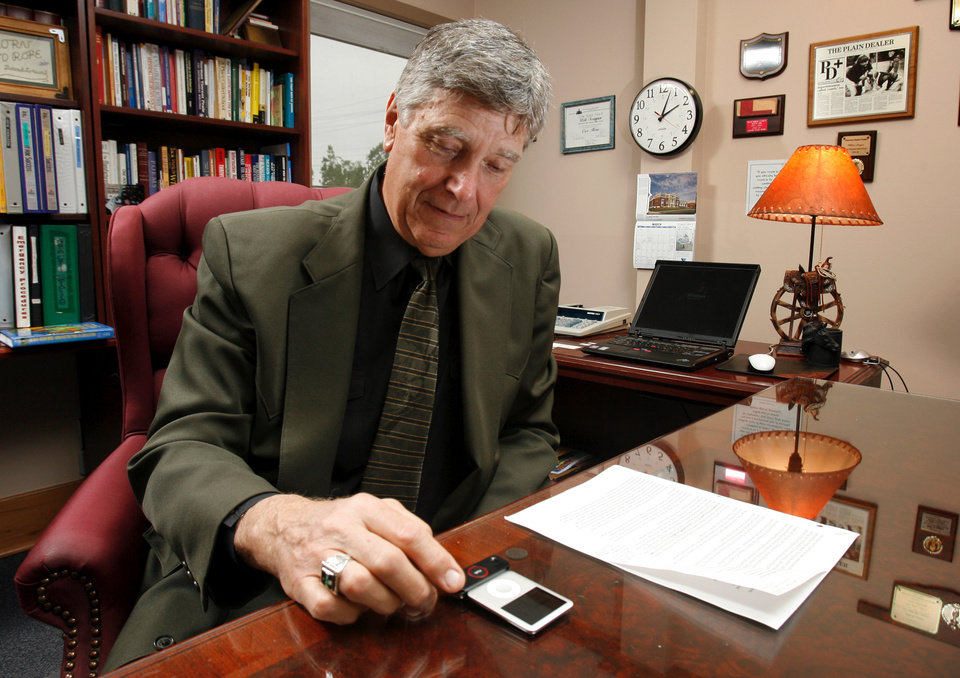 Mid-Del School superintendent Bill Scoggan in the Mid-Del Administration office in Midwest City, Oklahoma on Tuesday, April 2, 2008. BY STEVE SISNEY, THE OKLAHOMAN