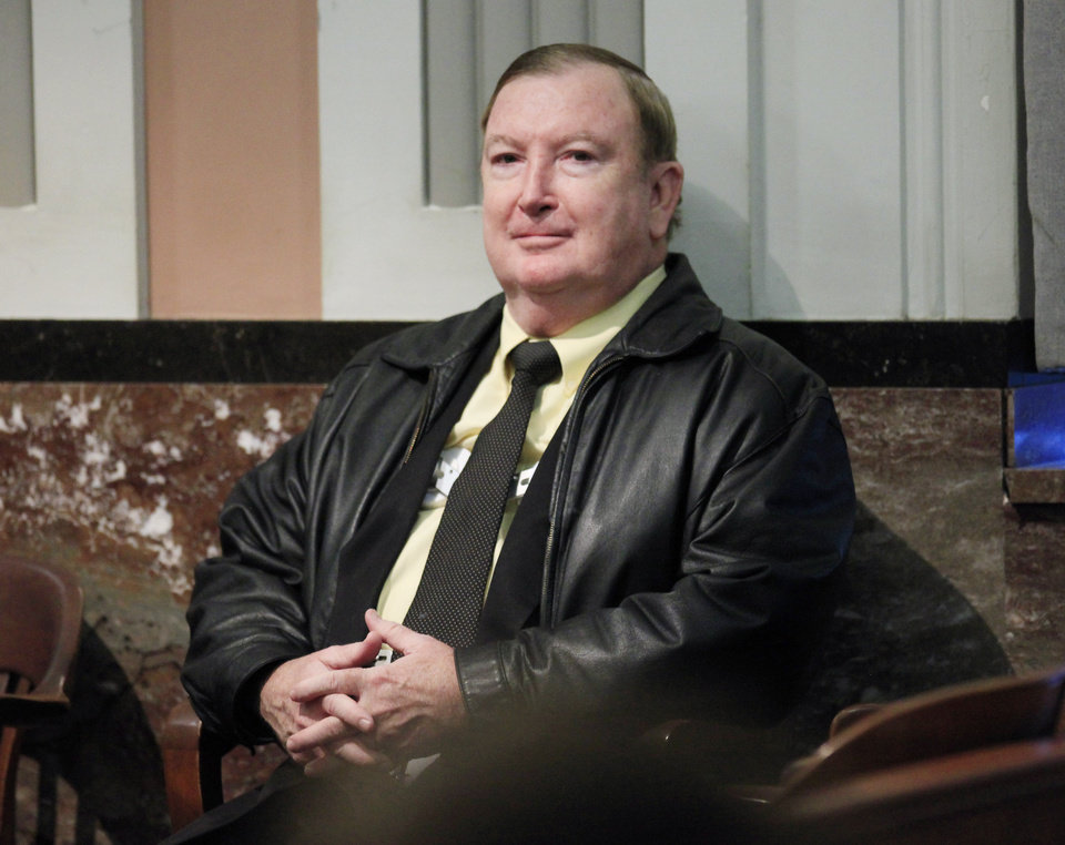 Photo - Jerome Ersland is seen in the courtroom today.