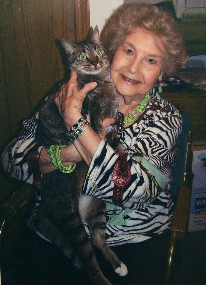 Wanda Faye holds her cat, Simba. Photo provided