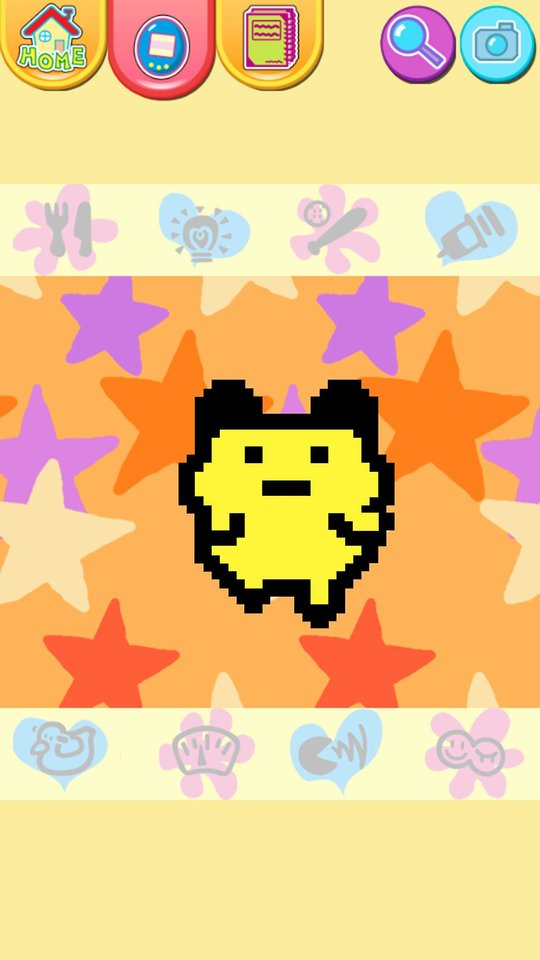 "This publicity photo released by Sync Beatz Entertainment shows the app mode screenshot of mobile app ""Tamagotchi L.i.f.e."" by developer/publisher Bandai Co./Sync Beatz Entertainment. The app duplicates the egg-shaped Tamagotchi toy that became a must-own sensation after it was first released in 1996 in Japan. (AP Photo/Bandai Co./Sync Beatz Entertainment)"