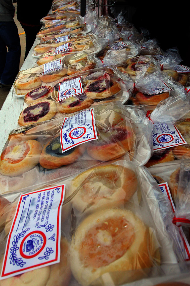 Thousands of kolaces were prepared for the 47th annual Czech Festival Saturday in Yukon. PHOTO BY HUGH SCOTT FOR THE OKLAHOMAN