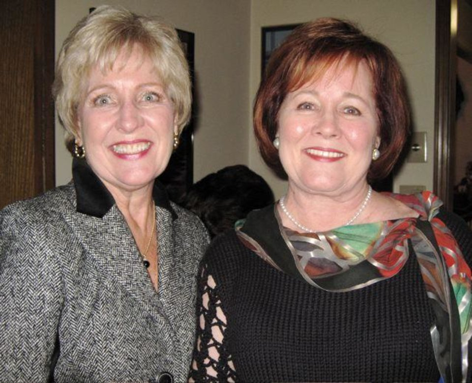 CAUSE TO CELEBRATE...Sisters Susan McPherson and Marilyn Case were at  the event. (Photo by Helen Ford Wallace).