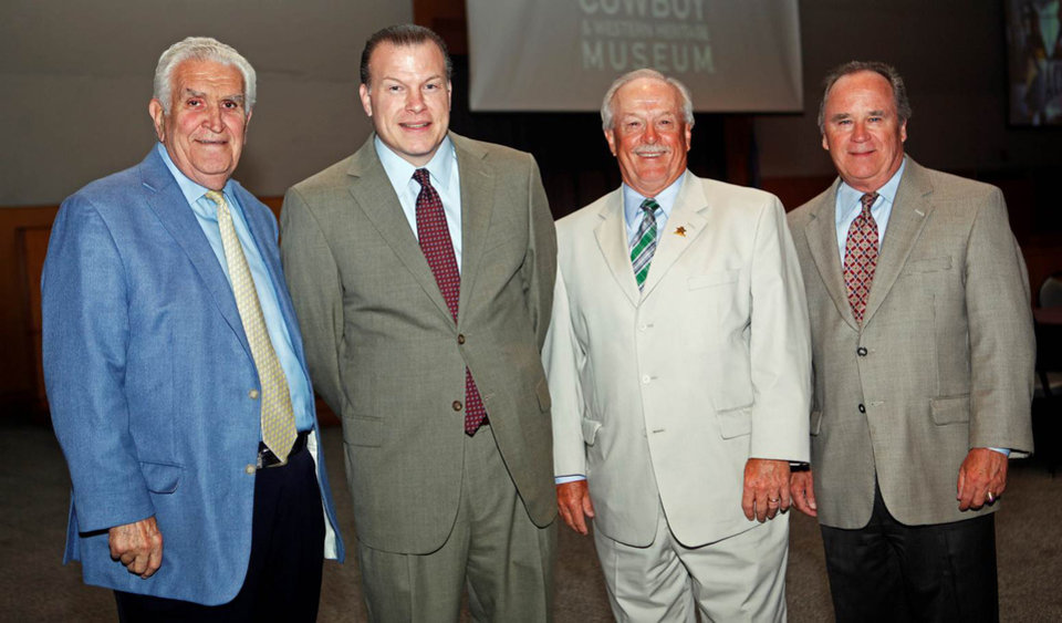 Photo -   Lee Allan Smith, Steven Karr, Mike Carrier and Lance Benham.  Photo by KT King, The Oklahoman