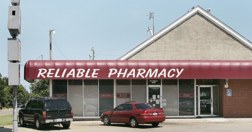 An Oklahoma County judge ended a temporary order that had required a national company to continue shipping to Reliable Discount Pharmacy, shown at left. The pharmacy was in the national spotlight in 2009 after an employee, Jerome Ersland, above, fatally shot a robber there. Ersland was convicted last year of first-degree murder. OKLAHOMAN ARCHIVE PHOTOS