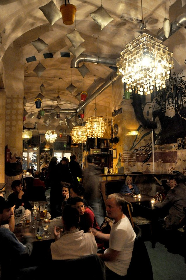 """Photo - Castoff furnishings are standard decor for Budapest's quirky """"ruin pubs.""""  Photo by Cameron Hewitt"""