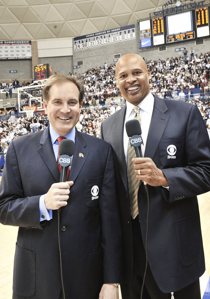 Clark Kellogg, right, has joined Jim Nantz on CBS' lead broadcast team for the NCAA men's basketball tournament. PHOTO PROVIDED