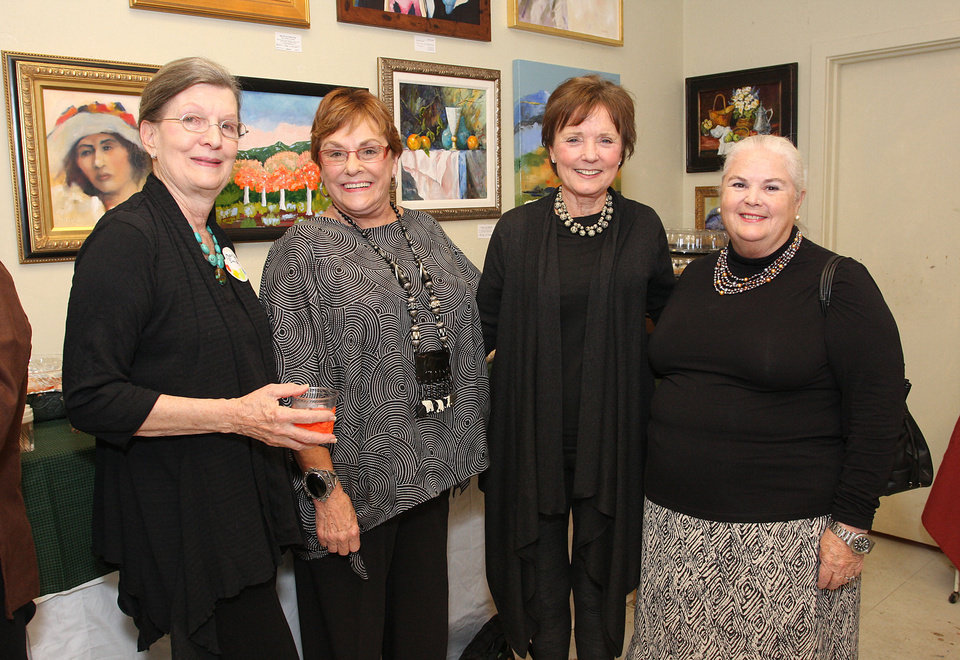 Mary Lee Smiser, Pat Edwards, Karen Luke, Peg Malloy. PHOTO BY DAVID FAYTINGER, FOR THE OKLAHOMAN  <strong></strong>