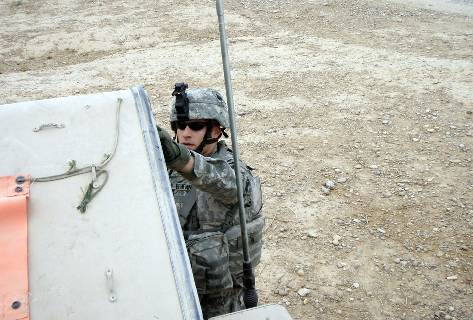 1st Lt. Michael Behenna in Iraq. Photo provided by the Behenna Family