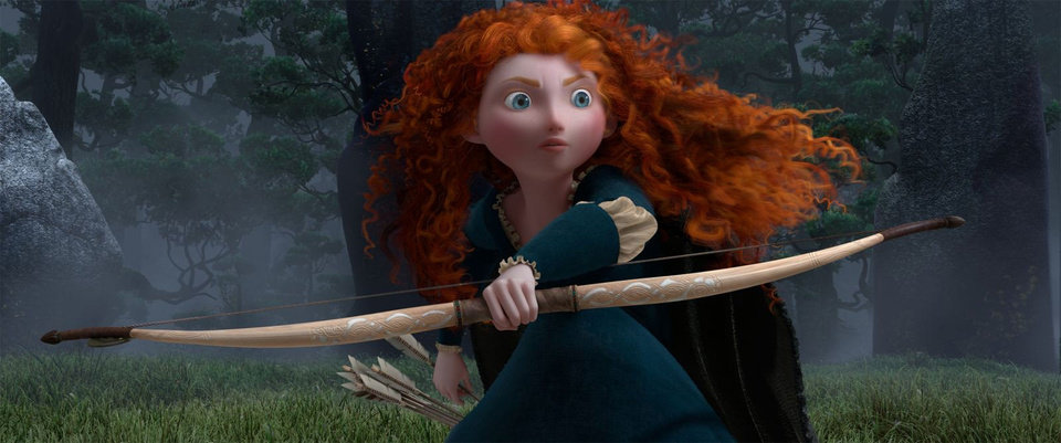 "Princess Merida (voice of Kelly Macdonald) appears in a scene from ""Brave."" Disney/Pixar photo <strong>Pixar</strong>"