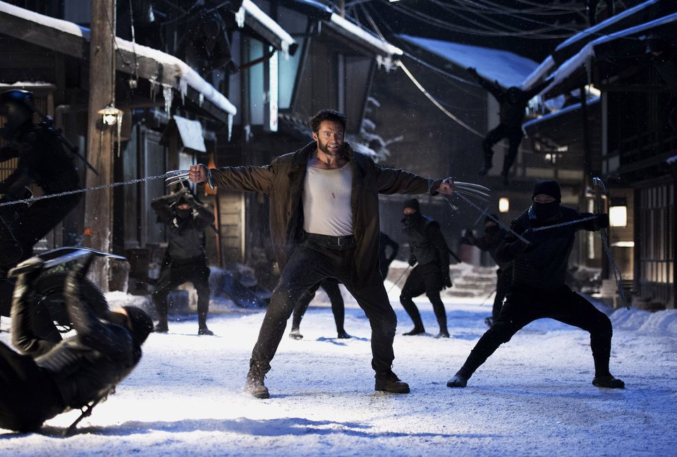 Photo - Hugh Jackman as Logan/Wolverine is shown in a scene from the film,