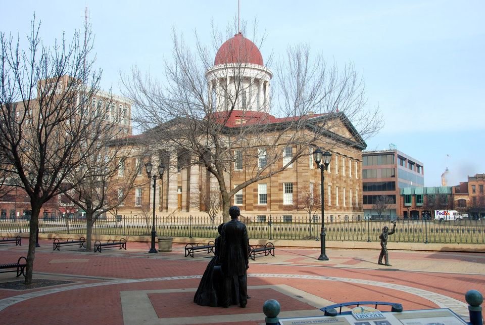 Photo -  The Old State Capitol served as the seat of government in Illinois from 1846-1876 and was the site of Abraham Lincoln's announcement for the United States Senate. It is used for ceremonial functions today. PHOTO PROVIDED BY NANCY LEONARD