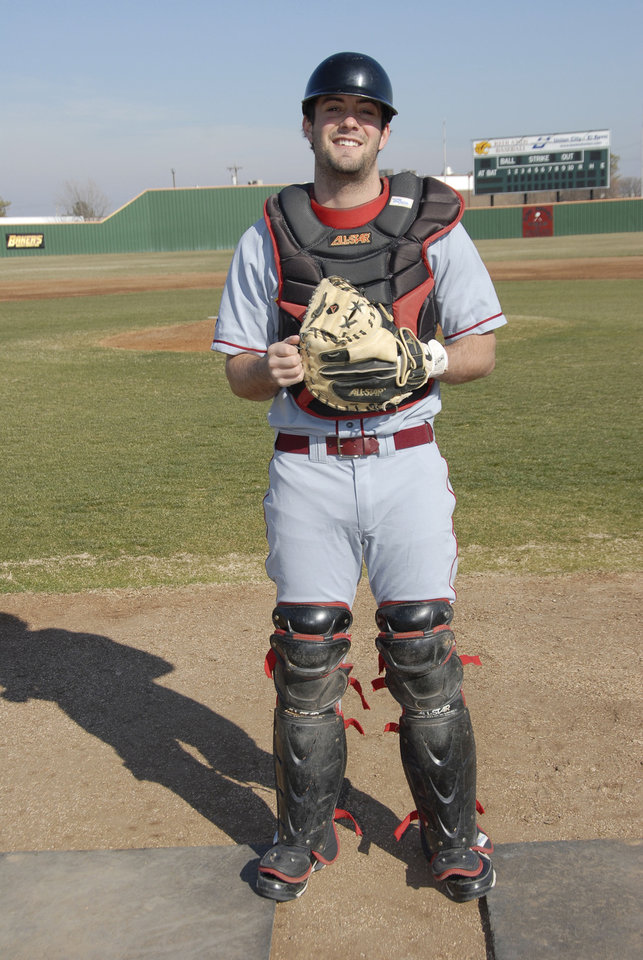 SHOOTING DEATH / MURDER / COLLEGE BASEBALL PLAYER: Christopher Lane, 22,  while he played baseball at Redlands Community College in El Reno. Lane was from Australia and was shot and killed in Duncan, Oklahoma Friday, Aug. 16, 2013 while jogging. Photo provided by Redlands Community College.