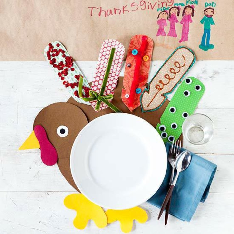 Photo - Get the kids in on decorating for the holidays. This turkey craft comes from the pages of Better Homes and Gardens. The magazine's online site, BHG.com, has a plethora of crafts for fall that perfect for small hands with big imaginations. Photo provided.