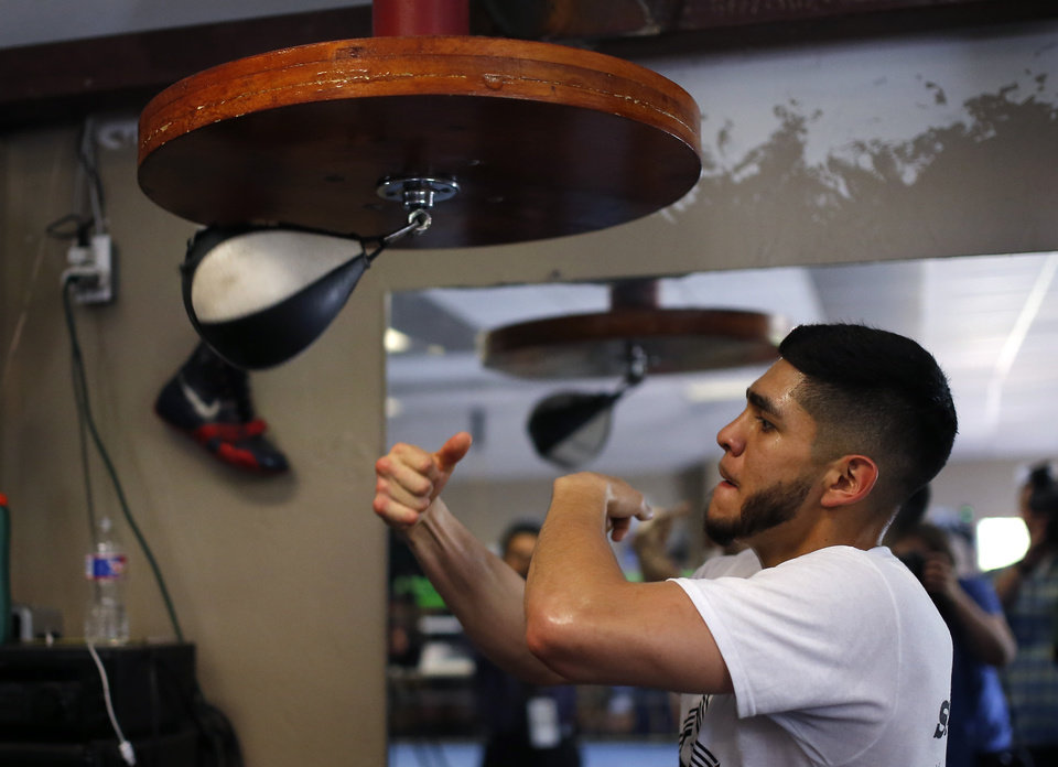 Photo -  Alex Saucedo of Oklahoma City is undefeated as a super lightweight and ranked second in the world. [PHOTO BY SARAH PHIPPS, THE OKLAHOMAN}