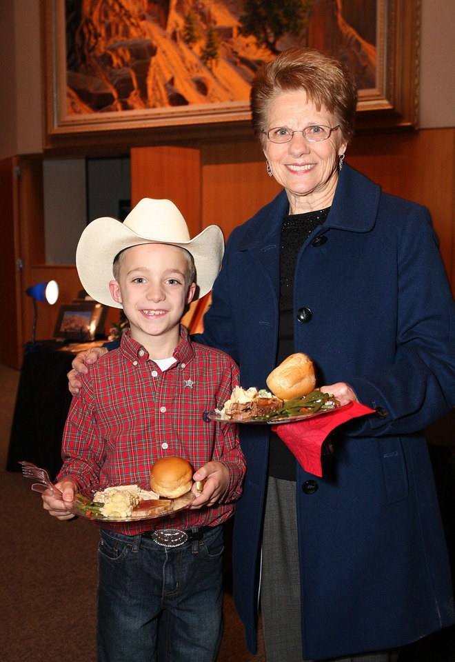 Photo - Sutton Moore, 7, Glenda Blackwood. PHOTO BY DAVID FAYTINGER, FOR THE OKLAHOMAN