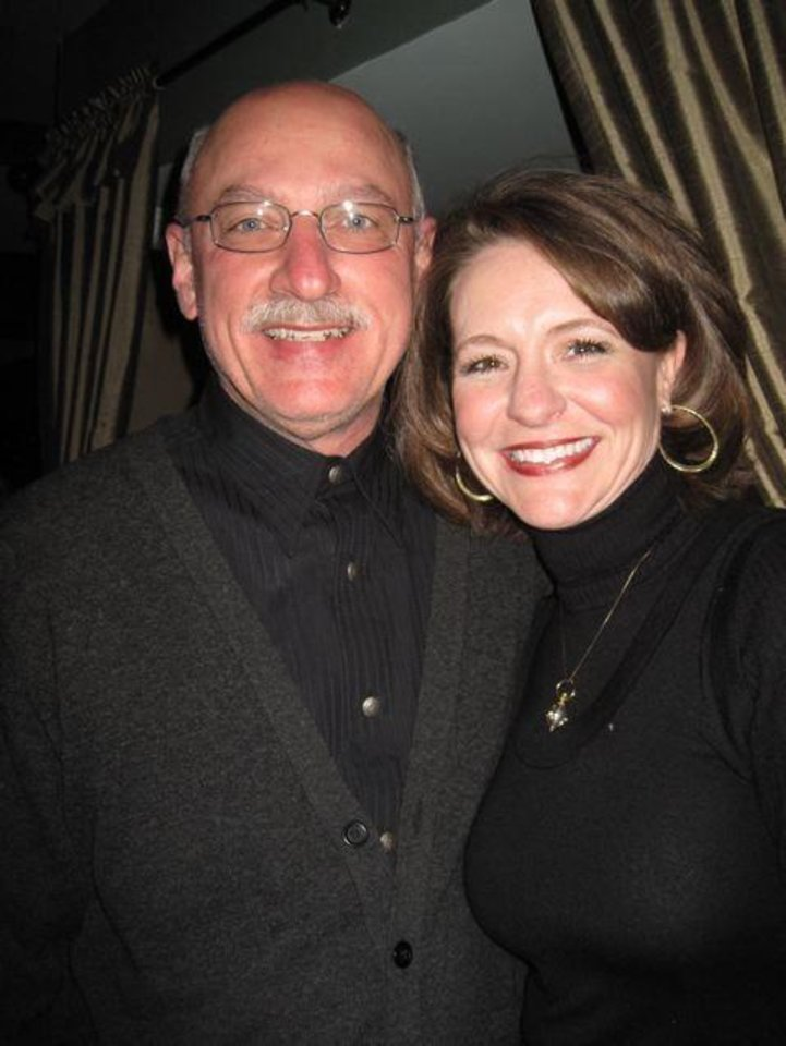 A HAPPY BIRTHDAY PARTY....James Pickel and Teresa Rose were at Paul Dudman's 60th birthday party. (Photo by Helen Ford Wallace).