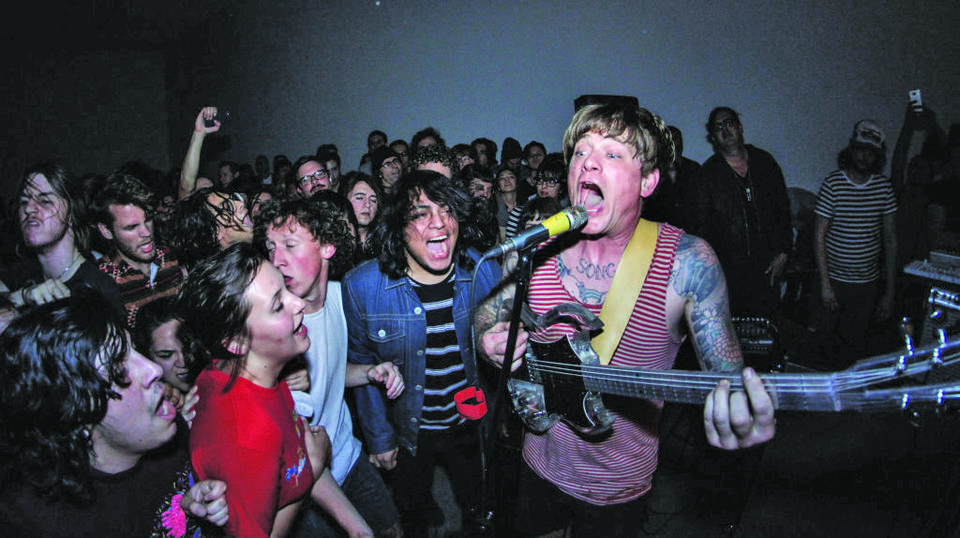 Photo -  Thee Oh Sees perform live. [Photo provided by Mini Van Photography]