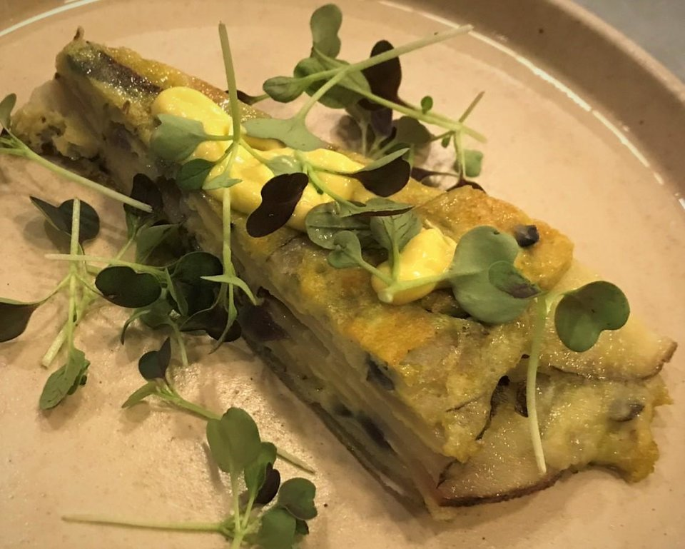 Photo - Spanish tortilla from the Kitchen at Commonplace Books in Midtown. [Dave Cathey/The Oklahoman]