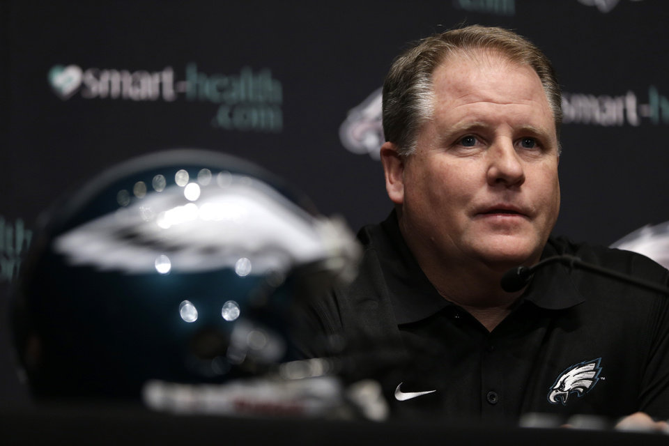 Philadelphia Eagles new head coach Chip Kelly speaks during a press conference at the team's NFL football training facility, Thursday, Jan. 17, 2013, in Philadelphia. (AP Photo/Matt Rourke)   ORG XMIT: PAMR117