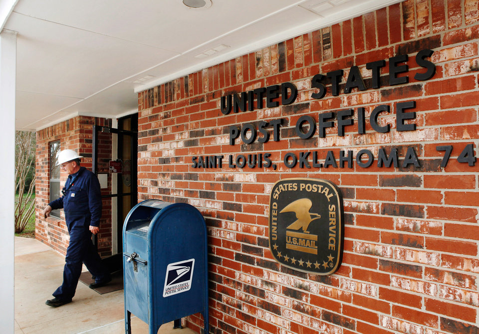 United States Post  Office in the tiny Pottawatomie community of St. Louis, on Monday, Dec. 19, 2011.  This post office is included on a list released recently of postal facilities  being considered for closing. Photo by Jim Beckel, The Oklahoman