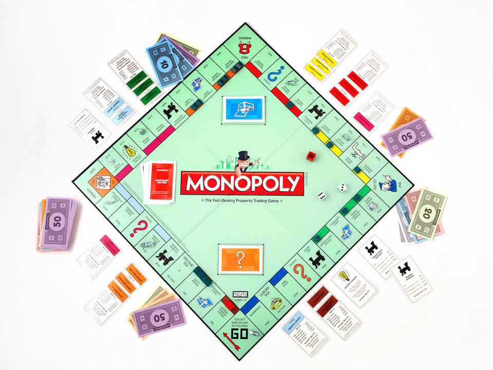 FILE - This product image provided by Hasbro, shows the board game Monopoly. The end is near for the shoe, wheelbarrow or iron in the classic Monopoly game as fans vote Tuesday, Feb. 5, 2013 in the final hours of a contest to determine which token to eliminate and which piece to replace it with. (AP Photo/Hasbro, File) ORG XMIT: NYJN101