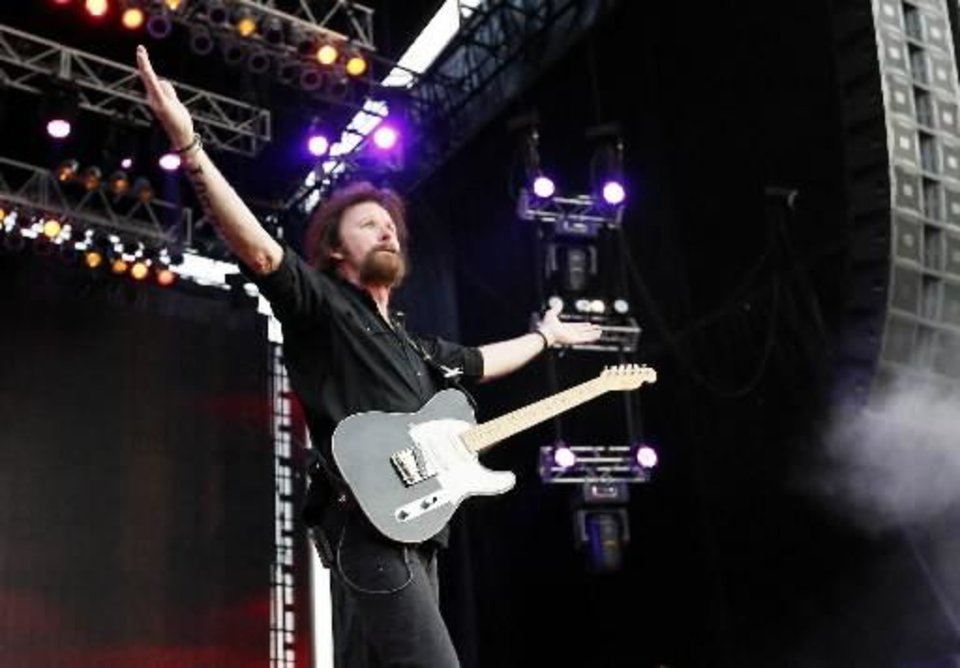 Photo -  Ronnie Dunn performs during the Oklahoma Twister Relief Concert. The former Tulsan will play at the Choctaw Nation Labor Day Festival in Tuskahoma. Photo by Nate Billings, The Oklahoman Archives